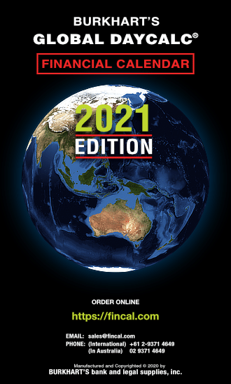 Cover image of the 2021 Global Daycalc refill